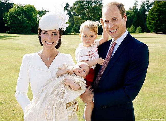 Kate Middleton, princesa Charlotte, príncipe George, príncipe William