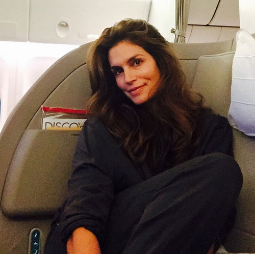 Cindy Crawford, bareface