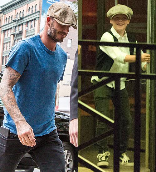 Niños que visten como sus padres, David Beckham, Cruz
