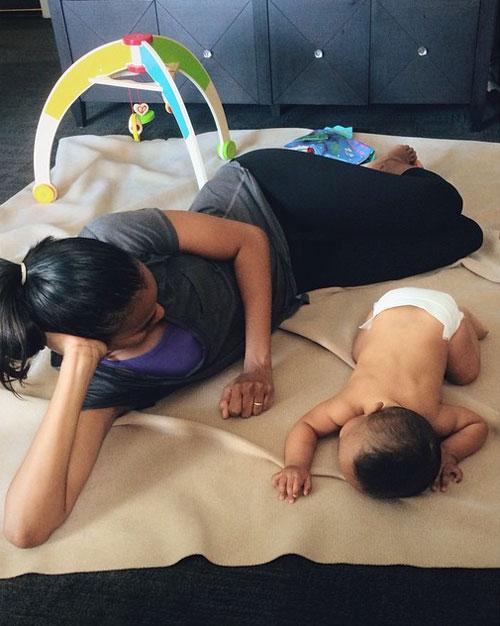 Bebés en Instagram, Zoe Saldaña