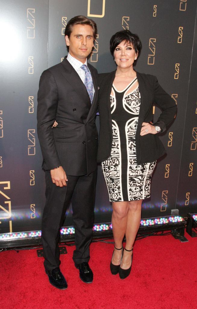 Kris Jenner y Scott Disick