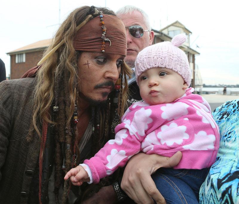 Johnny Depp como Jack Sparrow para artíulo