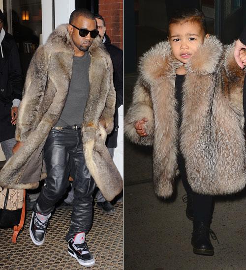 Niños que visten como sus padres, Kanye West, North West
