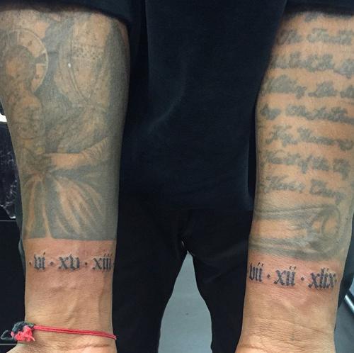 Tatuajes famosos, Kanye West