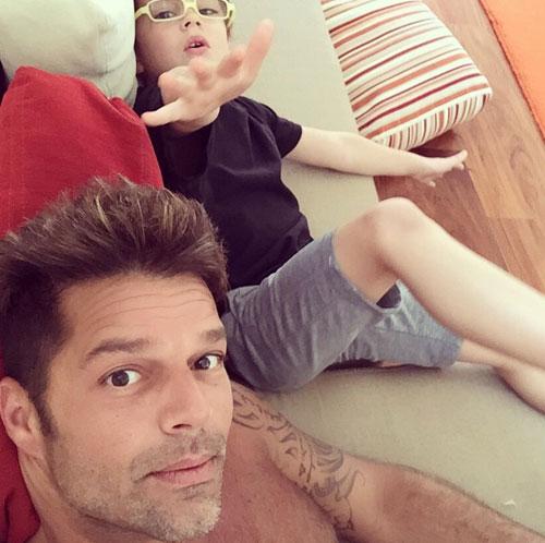 Bebés en Instagram, Ricky Martin