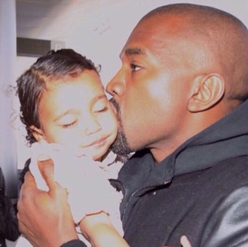 Bebés en Instagram, Kim Kardashian