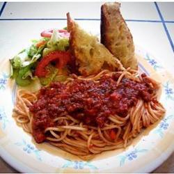 Salsa boloñesa para spaghetti