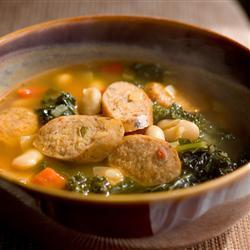 Sopa de alubias y chorizo