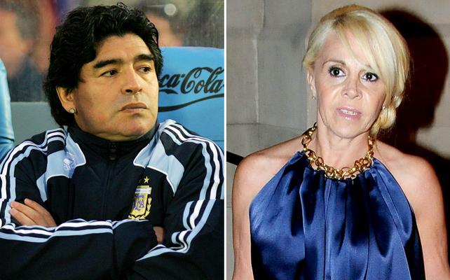 Diego Armando Maradona y su ex esposa, Claudia Villafañe