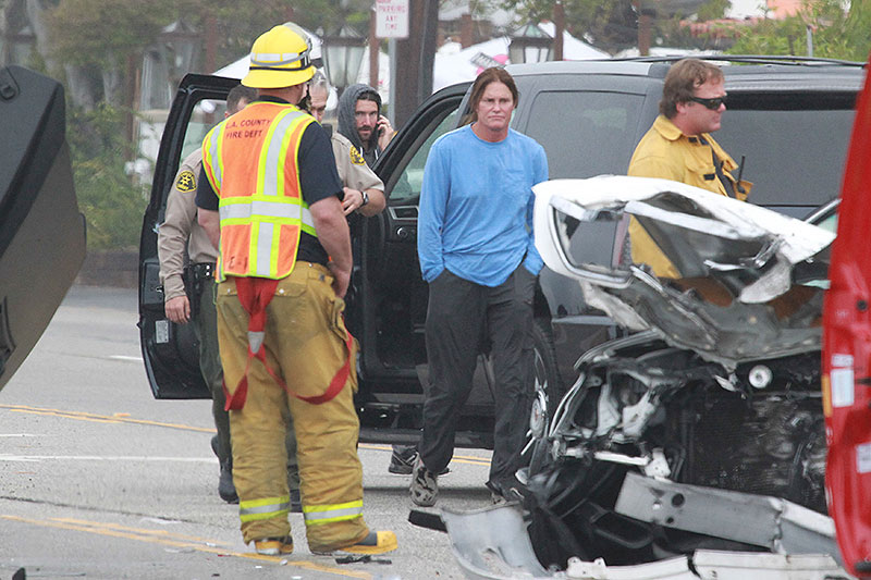caitlyn jenner, accidente en Malibu