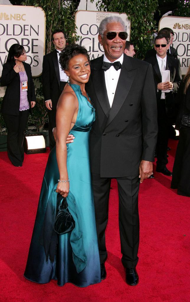 E'Dena Hines y Morgan Freeman