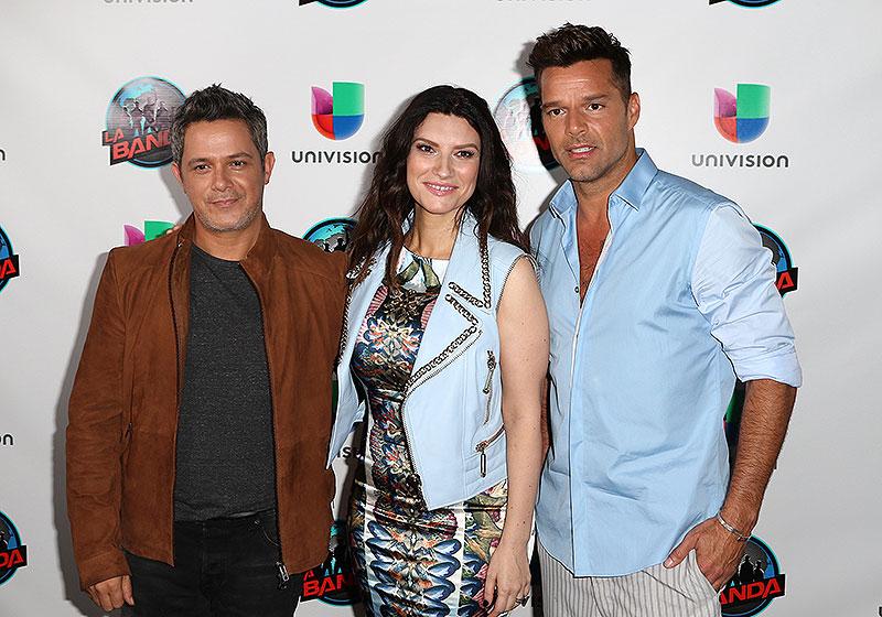 La banda, Alejandro Sanz, Laura pausini, Ricky Martin