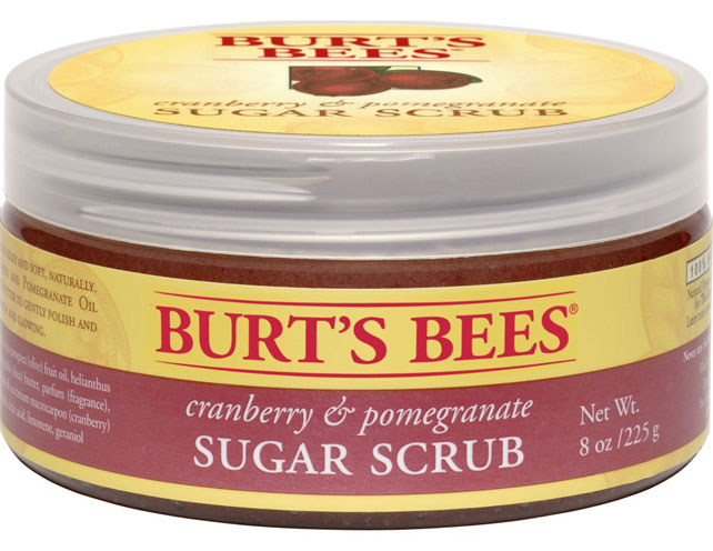 Burt's Bees Cranberry & Pomegranate Sugar Scrub, pedicura en casa