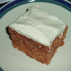 Pastel de calabacita con betún de queso crema