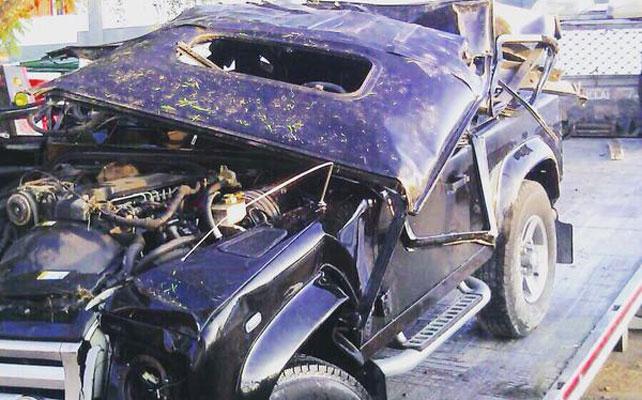 Camioneta, Alejandro Fernández, accidente