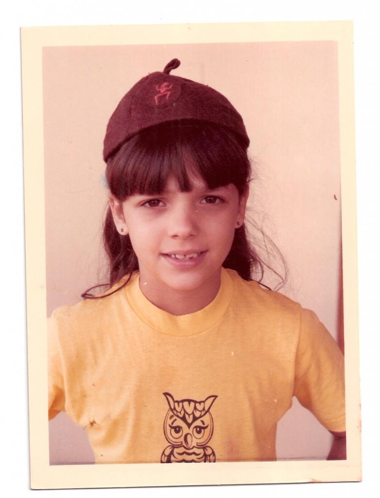 Bárbara Bermudo de niña escolar a los 8 años