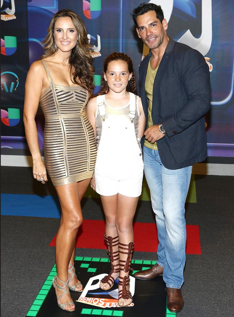Cristián de la Fuente, Angélica Castro, y su hija