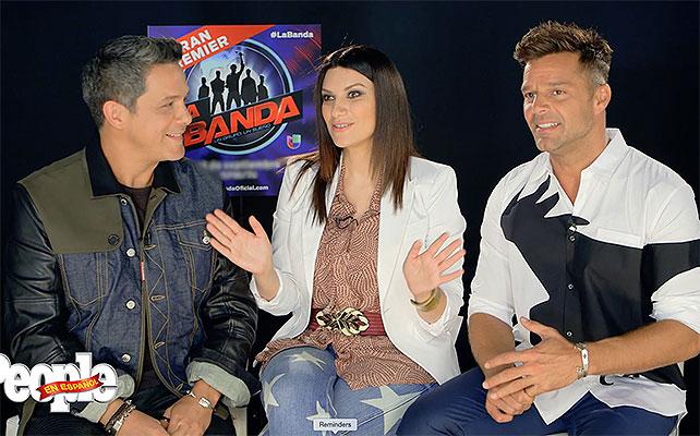 Alejandro Sanz, Laura Pausini, Ricky Martin, La banda