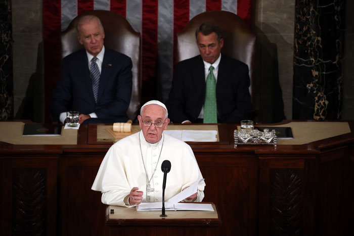 Papa Francisco, Washington, mensaje, Congreso de Estados Uniods