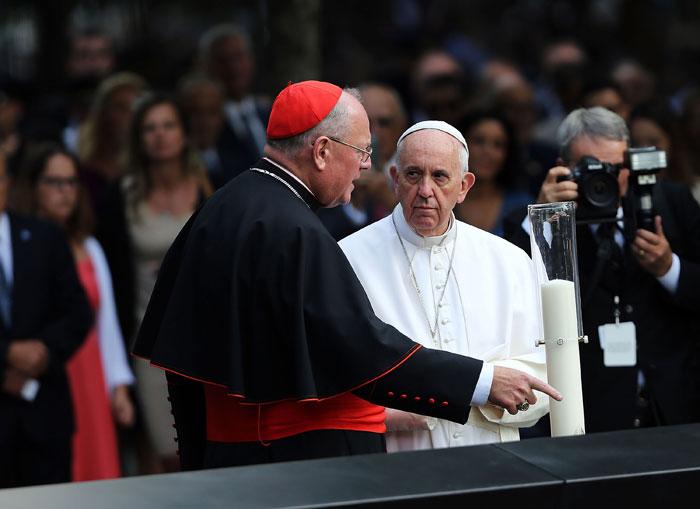 Papa Francisco en la Zona Cero