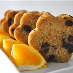 Panqué de naranja, calabacita y chocolate
