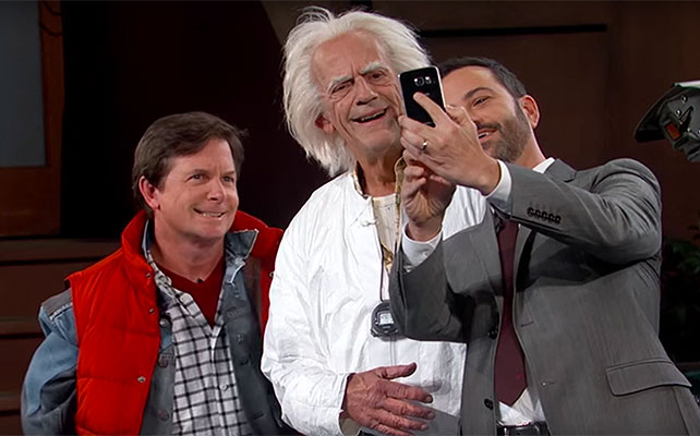 Michael J. Fox, Christopher Lloyd, Jimmy Kimmel