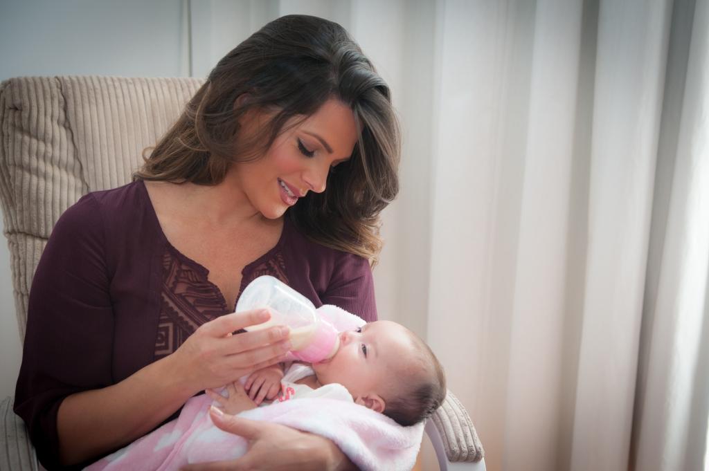 Barbara Bermudo, y su bebé Sofia Andrea