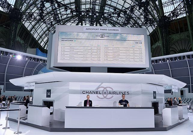 Escenario, desfile Chanel en París