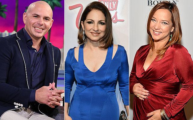 Pitbull, Gloria Estefan, Adamari López