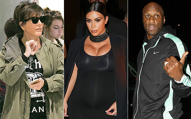 Kris Jenner, Kim Kardashian, Lamar Odom