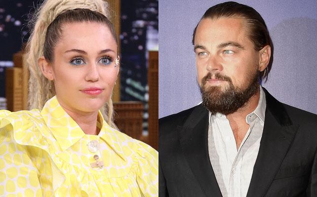 Miley Cyrus y Leonardo DiCaprio