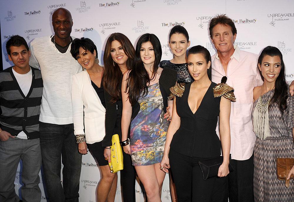 Rob Kardashian, Lamar Odom, Kris Jenner, Khloe Kardashian, Kylie Jenner, Kendall Jenner, Kim Kardashian, Bruce Jenner, Kourtney Kardashian