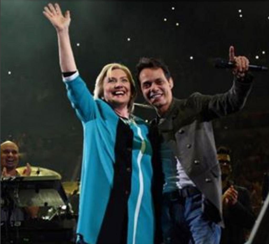 Hillary Clinton, Marc Anthony