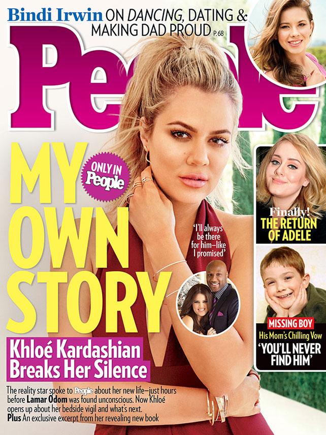 Khloé Kardashian, People, portada