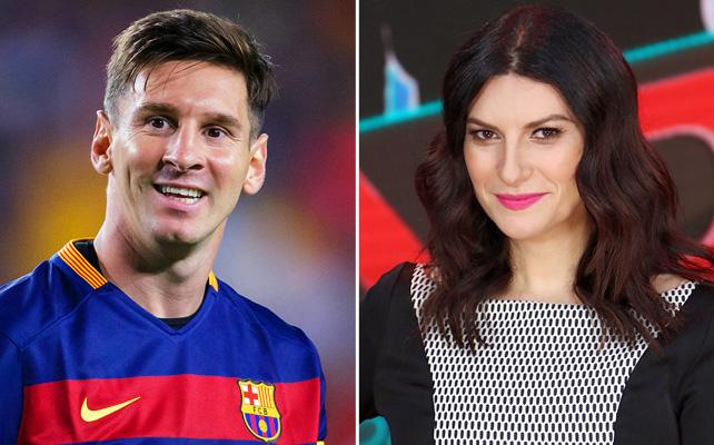 Lionel Messi, y Laura Pausini