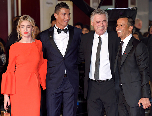 Cristiano Ronaldo, Carlo Ancelotti, Jorge Mendes