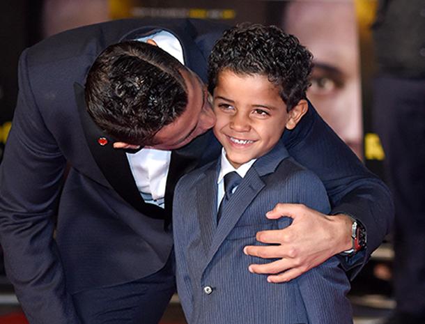 Cristiano Ronaldo y Cristiano Ronaldo Jr.