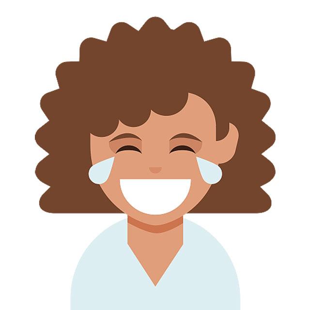 Emojis cabello rizado