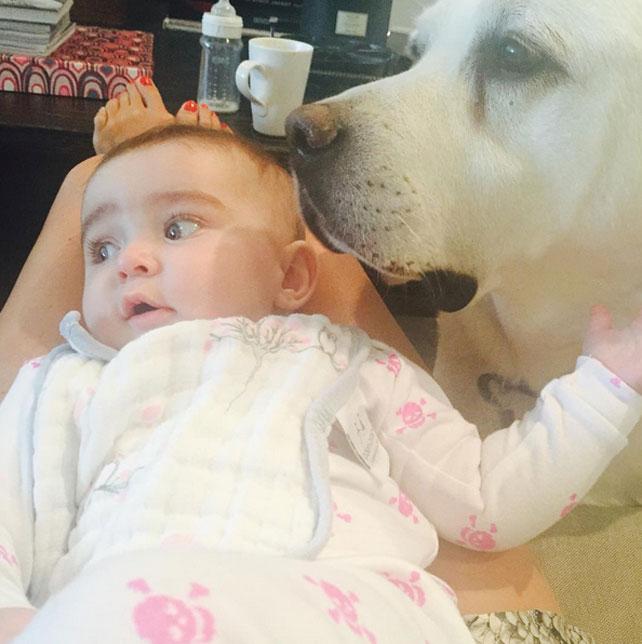 Bebés en Instagram, Molly Sims