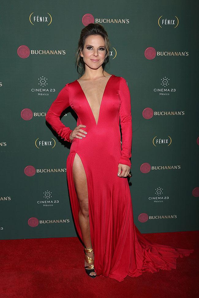 Kate del Castillo, vestidos rojos