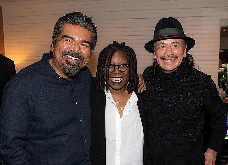 Whoopi Goldberg, George López, Carlos Santana, Míralos