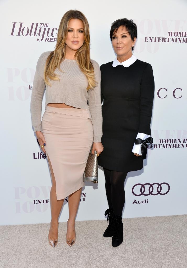 Khloe Kardashian, y Kris Jenner
