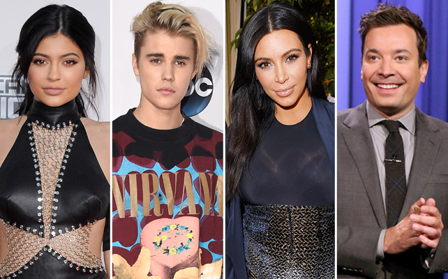 Kylie Jenner, Justin Bieber, Kim Kardashian, Jimmy Fallon