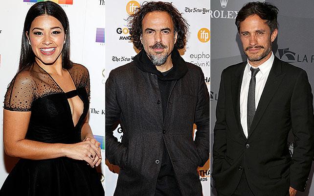 Gina Rodríguez, Alejandro González Iñarritu, Gael García Bernal,