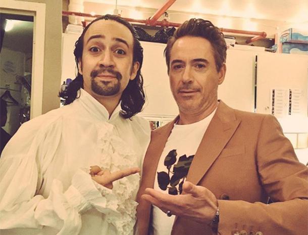 Lin-Manuel Miranda, Hamilton, Robert Downey Jr.