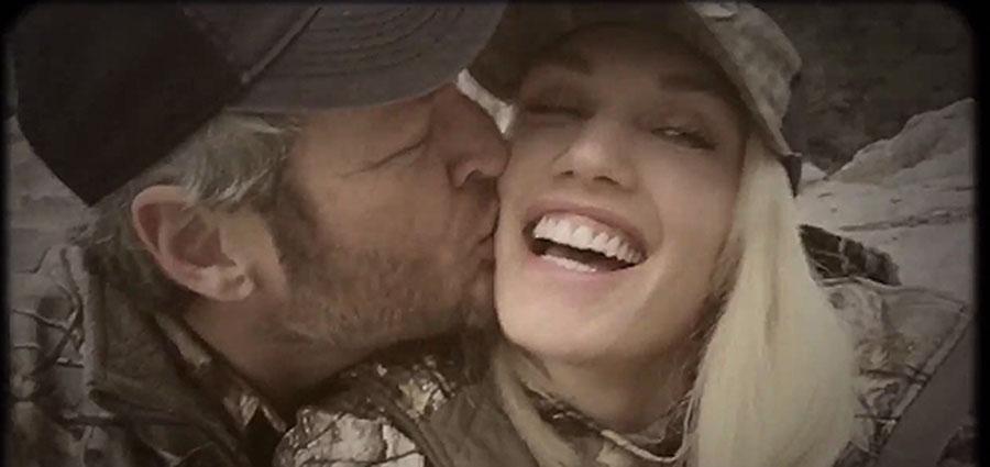 Gwen Stefani y Blake Shelton muy románticos