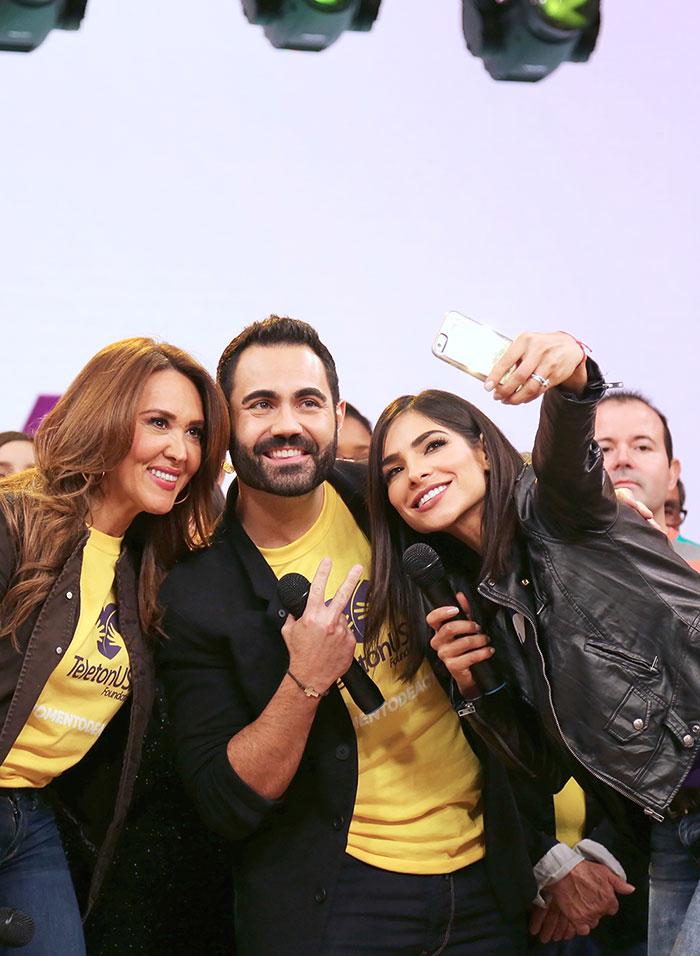 Alejandra Espinoza, Enrique Santos y Tany Charry