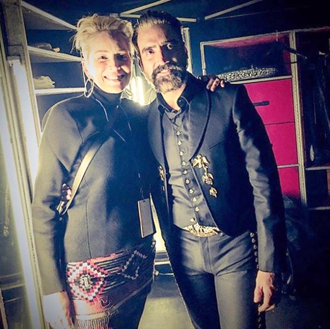 Sharon Stone, y Alejandro Fernández