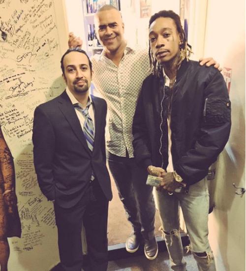 Lin-Manuel Miranda, Hamilton, Wiz Khalifa
