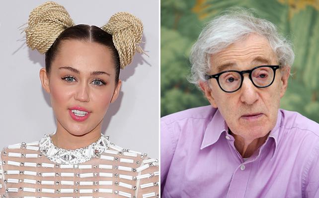 Miley Cyrus; y Woody Allen